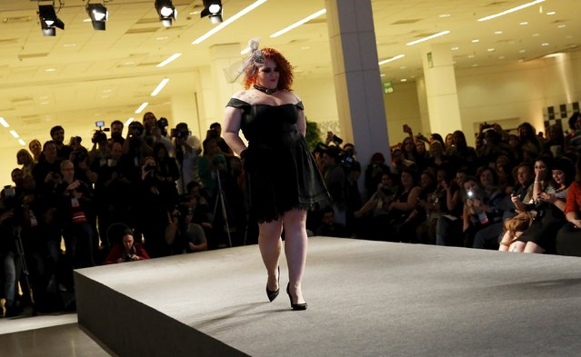 A model walks the runway during a presentation as part of Fashion Weekend Plus Size Summer 2015 collection show in Sao Paulo, July 25, 2015. (Photo by Nacho Doce/Reuters)