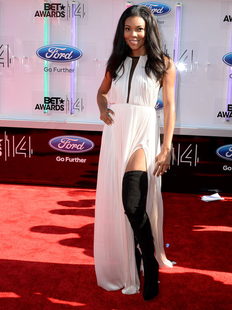 Actress Gabrielle Union attends the BET AWARDS '14 at Nokia Theatre L.A. LIVE on June 29, 2014 in Los Angeles, California. (Photo by Earl Gibson III/Getty Images for BET)