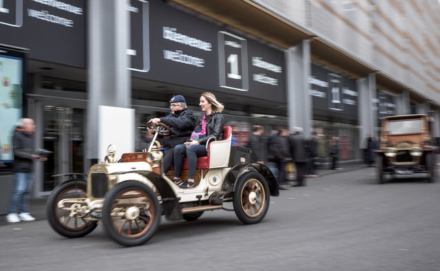 Atmosphere Retromobile classic car show's annual meeting for enthusiasts of classic and vintage cars in Paris, France on February 5, 2020. More than 1,000 vehicles were on display. (Photo by Nicolas Nicolas Messyasz/SIPA Press/Rex Features/Shutterstock)
