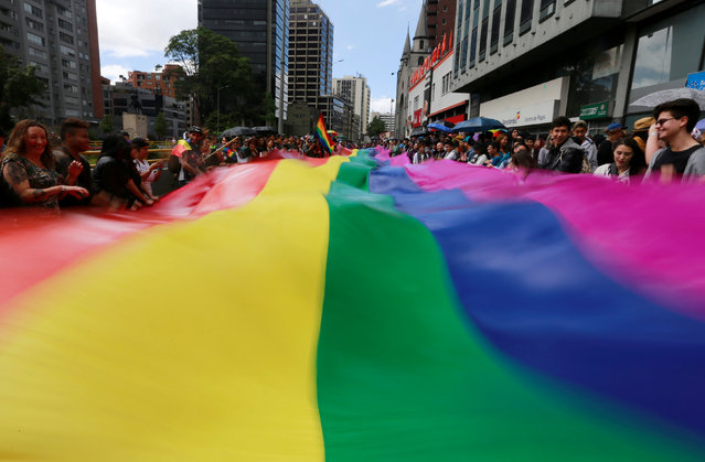 People attend an annual gay pride parade in Bogota, Colombia, July 3, 2016. (Photo by John Vizcaino/Reuters)