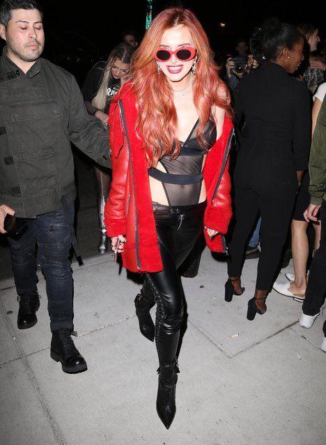 Bella Thorne arrives at the Mert Alas x Marcus Piggot book launch party at Public Hotelon September 7, 2017 in New York City. (Photo by Splash News and Pictures)