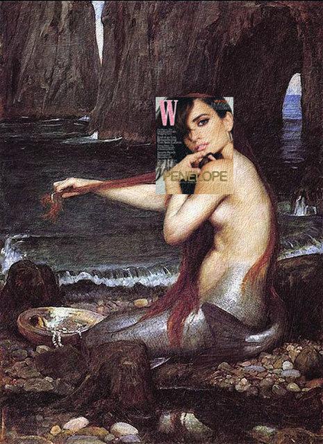 Quirky Magazine covers: Penelope and mermaid. (Photo by Eisen Bernard Bernardo/Caters News)