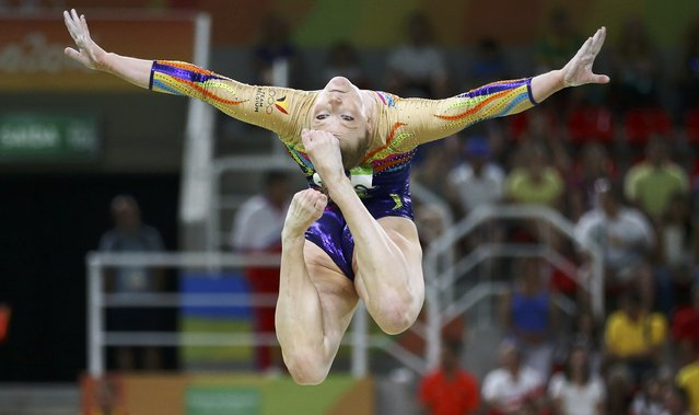 2016 Rio Olympics, Artistic Gymnastics, Preliminary, Women's Qualification, Subdivisions, Rio Olympic Arena, Rio de Janeiro, Brazil on August 7, 2016. Gaelle Mys (BEL) of Belgium competes on the beam during the women's qualifications. (Photo by Damir Sagolj/Reuters)
