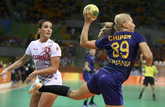 2016 Rio Olympics, Handball, Preliminary, Women's Preliminary Group A Romania vs Spain, Future Arena, Rio de Janeiro, Brazil on August 12, 2016. Laura Chiper (ROU) of Romania in action. (Photo by Marko Djurica/Reuters)