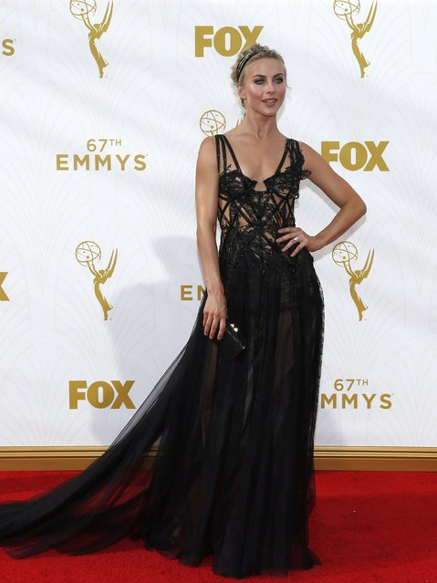 Actress and dancer Julianne Hough arrives at the 67th Primetime Emmy Awards in Los Angeles, California September 20, 2015. (Photo by Mario Anzuoni/Reuters)