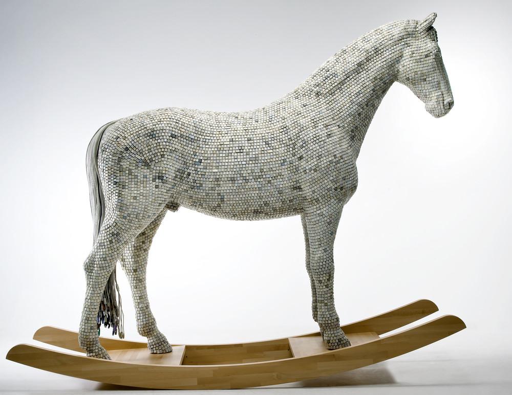 Trojaner Horse Made of Computer Keys