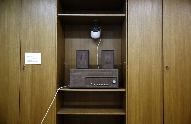 A music radio is seen in Josip Broz Tito's underground secret bunker (ARK) in Konjic, October 16, 2014. (Photo by Dado Ruvic/Reuters)