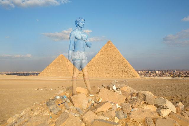 Giza Pyramids. (Photo by Trina Merry/Caters News)