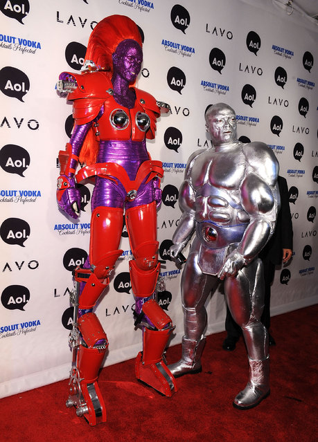Heidi Klum and Seal attend Heidi Klum's 2010 Halloween Party at Lavo on October 31, 2010 in New York City.  (Photo by Bryan Bedder/Getty Images)