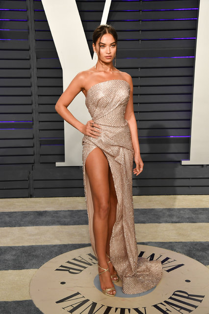 Shanina Shaik attends the 2019 Vanity Fair Oscar Party hosted by Radhika Jones at Wallis Annenberg Center for the Performing Arts on February 24, 2019 in Beverly Hills, California. (Photo by George Pimentel/Getty Images)