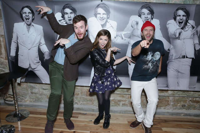 Joe Swanberg, Anna Kendrick and Mark Webber attend ChefDance Sponsored By SUJA Juices, El Tesoro Tequila & Sunrider on January 19, 2014 in Park City, Utah. (Photo by Tiffany Rose/Getty Images for ChefDance)