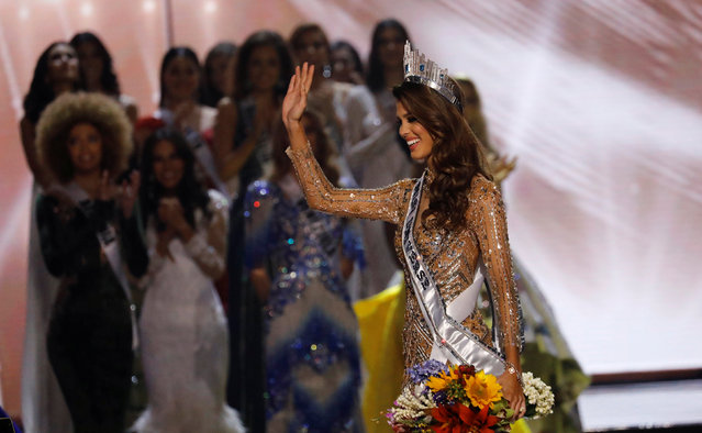 Miss France Iris Mittenaere waves after being declared winner in the Miss Universe beauty pageant at the Mall of Asia Arena, in Pasay, Metro Manila, Philippines January 30, 2017. (Photo by Erik De Castro/Reuters)
