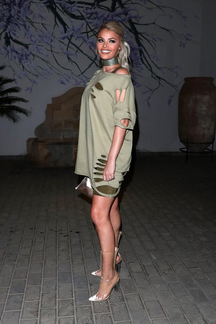 """Chloe Sims attends """"The Only Way is Essex"""" filming in Tenerife, Spain on January 30, 2017. (Photo by Beretta/Sims/Rex Features/Shutterstock)"""