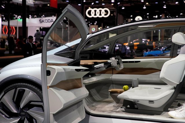 The interior of the Audi's new concept AI: ME with automated driving system is presented during the media day for Shanghai auto show in Shanghai, China April 17, 2019. (Photo by Aly Song/Reuters)