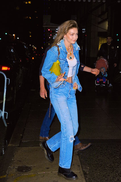 Gigi Hadid seen out and about in Manhattan on  April 22, 2019 in New York City. (Photo by Robert Kamau/GC Images)