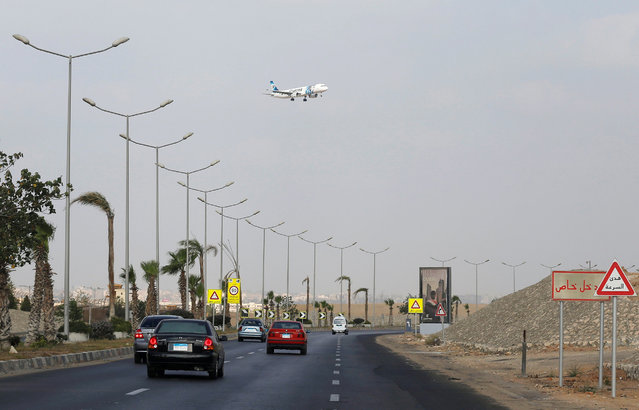 An EgyptAir aircraft prepares to land at Cairo Airport, Egypt May 19, 2016. (Photo by Amr Abdallah Dalsh/Reuters)