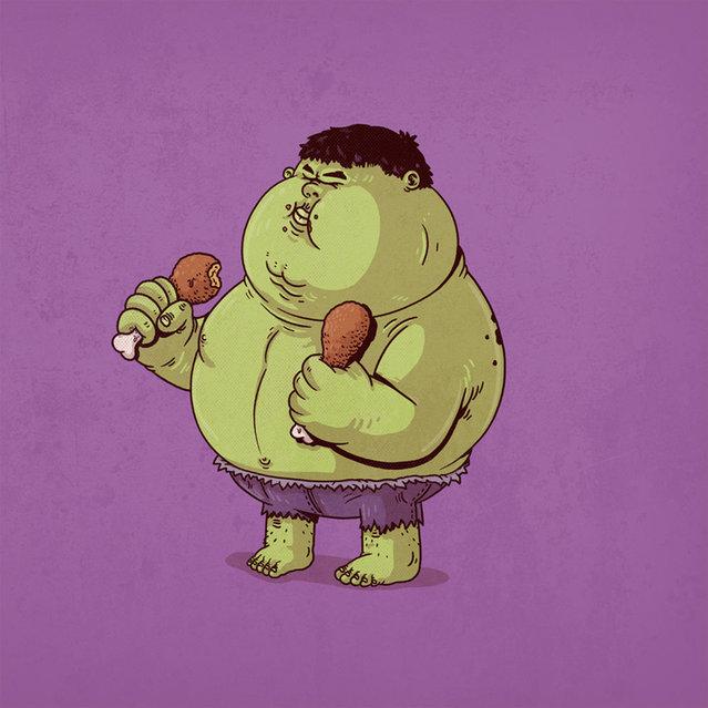 Fat Pop Culture Characters By Alex Solis Part 3