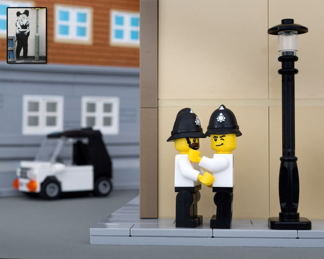 Banksys Artwork In Lego Form