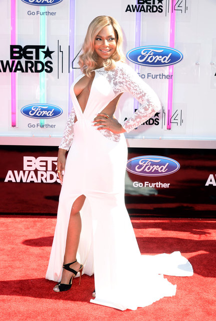 Singer Ashanti attends the BET AWARDS '14 at Nokia Theatre L.A. LIVE on June 29, 2014 in Los Angeles, California. (Photo by Earl Gibson III/Getty Images for BET)
