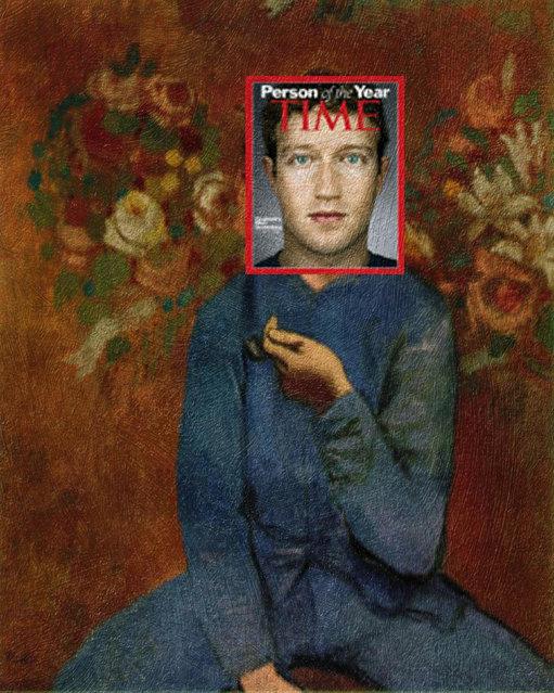Quirky Magazine covers: Mark and the boy. (Photo by Eisen Bernard Bernardo/Caters News)