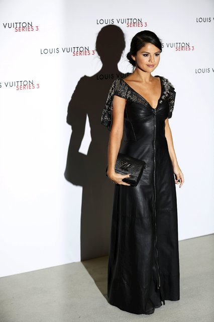 "Actress Selena Gomez arrives for the ""Louis Vuitton Series 3"" exhibition gala opening in London, Britain September 20, 2015. (Photo by Luke MacGregor/Reuters)"
