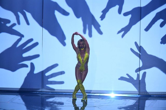 Singer Britney Spears performs during the 2016 MTV Video Music Awards August 28, 2016 at Madison Square Garden in New York. (Photo by Jewel Samad/AFP Photo)