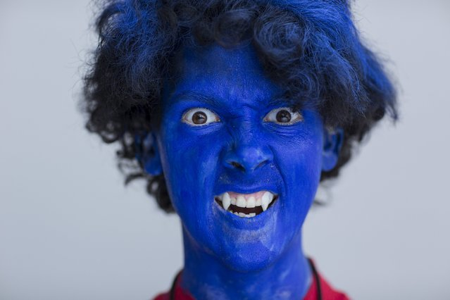 Liam Maclarty attends New York Comic Con dressed as Nightcrawler from Marvel's X-Men in Manhattan, New York, October 8, 2015. (Photo by Andrew Kelly/Reuters)