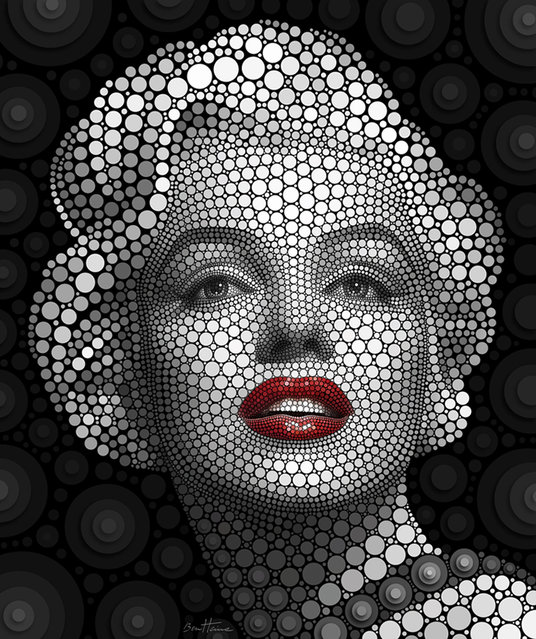 Digital Circlism: Portraits Of Celebrities By Ben Heine