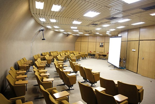A meeting hall is seen in Josip Broz Tito's underground secret bunker (ARK) in Konjic, October 16, 2014. (Photo by Dado Ruvic/Reuters)