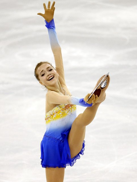 Russia's Elena Radionovas perform during the ladies' free skating event at the ISU Grand Prix of Figure Skating final in Barcelona December 13, 2014. (Photo by Albert Gea/Reuters)