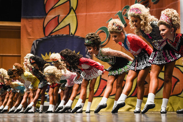 Competitors take part in the World Irish Dancing Championships on March 25, 2018 in Glasgow, Scotland. (Photo by Jeff J. Mitchell/Getty Images)