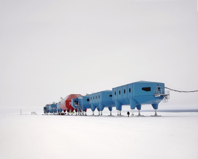 Undated handout photo issued by World Architecture Festival 2013 of The Halley VI centre designed by British architects Hugh Broughton in Antarctica which is a dismantlable research station created in the icy wastes for the British Antarctic Survey and has been shortlisted for a global architecture award. (Photo by World Architecture Festival 2013/PA Wire)