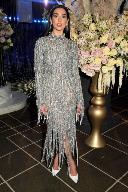 In this image released on April 25, Dua Lipa attends the 29th Annual Elton John AIDS Foundation Academy Awards Viewing Party on April 25, 2021. (Photo by David M. Benett/Getty Images for the Elton John AIDS Foundation)
