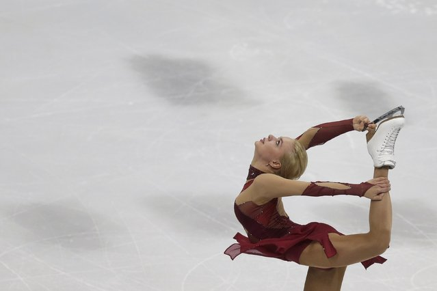 Anna Pogorilaya of Russia performs during the ladies short program at the ISU European Figure Skating Championship in Bratislava, Slovakia, January 27, 2016. (Photo by David W. Cerny/Reuters)