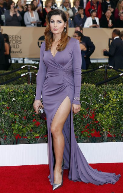 Actress Trace Lysette arrives at the 22nd Screen Actors Guild Awards in Los Angeles, California January 30, 2016. (Photo by Mike Blake/Reuters)