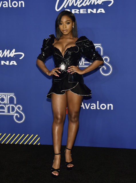 Normani attends the 2018 Soul Train Awards at the Orleans Arena on November 17, 2018 in Las Vegas, Nevada. (Photo by David Becker/Getty Images)