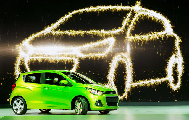 The 2016 Chevrolet Spark is presented at the New York International Auto Show, Thursday, April 2, 2015. (Photo by Mark Lennihan/AP Photo)