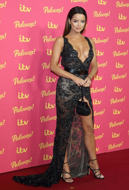 UK's Love Island favourite Maura Higgins attends the ITV Palooza 2019 at The Royal Festival Hall on November 12, 2019 in London, England. (Photo by Eyevine)