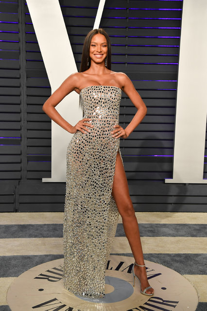Lais Ribeiro attends the 2019 Vanity Fair Oscar Party hosted by Radhika Jones at Wallis Annenberg Center for the Performing Arts on February 24, 2019 in Beverly Hills, California. (Photo by George Pimentel/Getty Images)