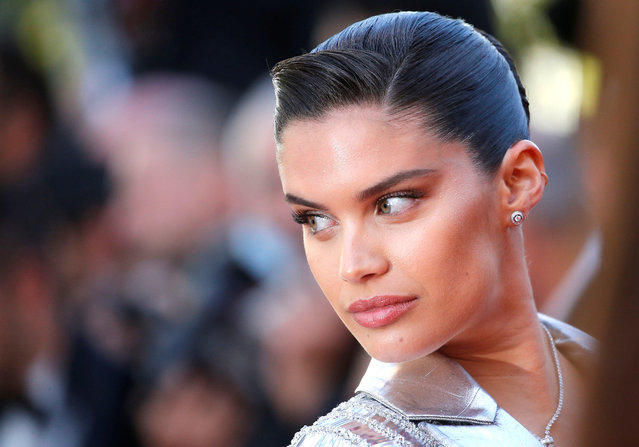 """Victoria Secret angel, Portuguese model Sara Sampaio poses as she arrives for the screening of the film """"Rocketman"""" at the 72nd edition of the Cannes Film Festival in Cannes, southern France, on May 16, 2019. (Photo by Stephane Mahe/Reuters)"""