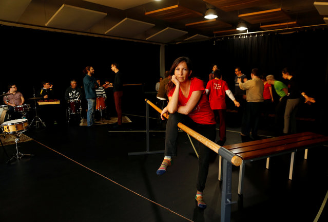 """Opening Doors Malta artistic director and dance practitioner Sandra Mifsud, 43, poses for a photograph at a rehearsal studio in Mosta, Malta, February 20, 2017. """"In the world of professional dance, I've read about and I know of many more established male choreographers than female choreographers. I also know of many more female dancers than male dancers, the latter is the result of life choices as well as taboos associated with males and dance"""", Mifsud said. (Photo by Darrin Zammit Lupi/Reuters)"""