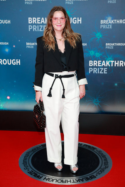 Drew Barrymore attends the 8th Annual Breakthrough Prize Ceremony at NASA Ames Research Center on November 03, 2019 in Mountain View, California. (Photo by Rich Fury/Getty Images)
