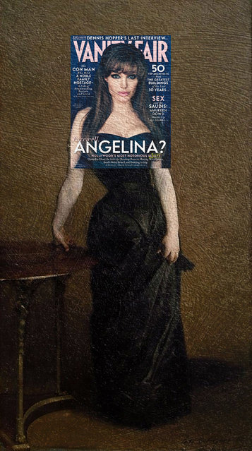 Quirky Magazine covers: Angelina and Madamx. (Photo by Eisen Bernard Bernardo/Caters News)