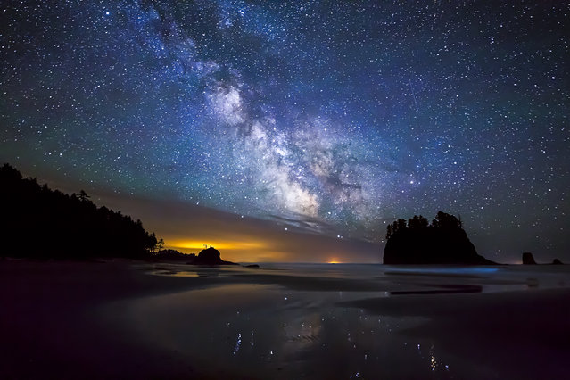 """Milky Way, Oregon"". The Milky Way sparkles over Second Beach in the Olympic Wilderness, Wash. (Photo by Joe LeFevre/Smithsonian Wilderness Forever Photo Contest)"