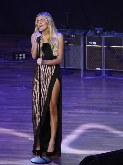 Kelsea Ballerini performs at the 55th Annual ASCAP Country Music Awards at the Ryman Auditorium on Monday, November 6, 2017, in Nashville, Tenn. (Photo by Sanford Myers/Invision/AP Photo)