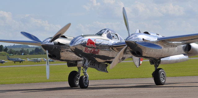 The Flying Bull's P-38 Lockheed Lightning N25Y / 13 – Red Bull – Flying Legends Airshow 2012 Duxford. (Rob Lovesey)