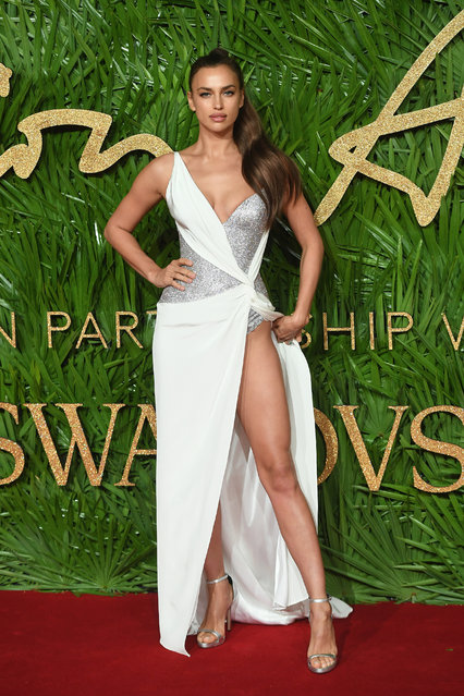Russian model Irina Shayk attends The Fashion Awards 2017 in partnership with Swarovski at Royal Albert Hall on December 4, 2017 in London, England. (Photo by Samir Hussein/Samir Hussein /WireImage)