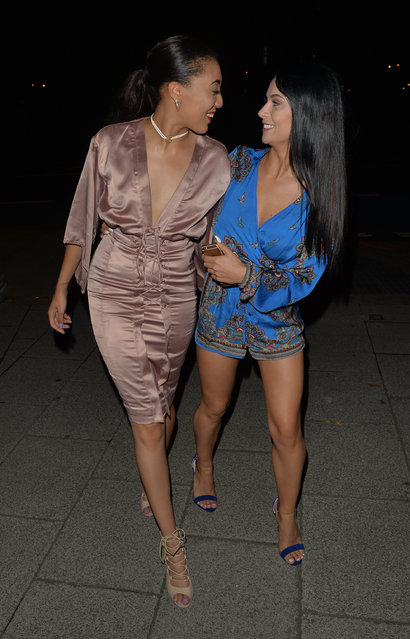 Cally Jane Beech seen leaving skybar after watching a boxing match on September 04, 2016 in London, England. (Photo by Eagle Lee/Barcroft Images)