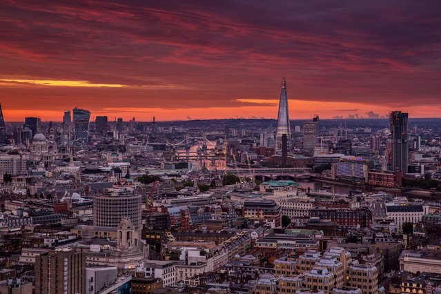London skyline. (Photo by Jacob Riglin/Caters News)