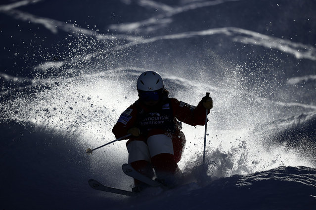 Hinako Tomitaka of Japan takes training run for the Women's Moguls during the 2021 Intermountain Healthcare Freestyle International Ski World Cup at Deer Valley Resort at Deer Valley Resort on February 02, 2021 in Park City, Utah. (Photo by Tom Pennington/Getty Images)